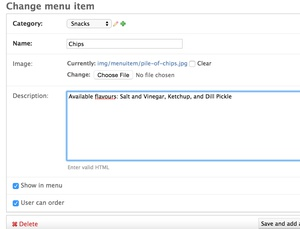 Administrators can update item descriptions and other details in real-time.